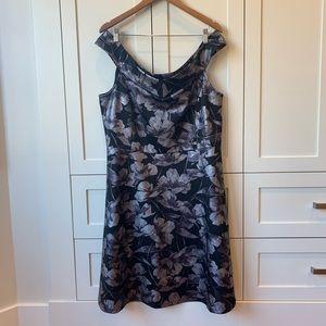 Floral Off-Shoulder Fit and Flare Dress